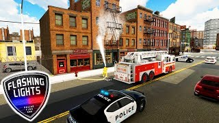 FIRST LOOK: Police, Fire Rescue & Medical Emergency Simulator | Flashing Lights Gameplay