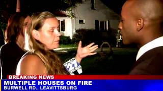 """Woman says her cousin set her house on fire because """"she wont get with him"""" on live tv"""