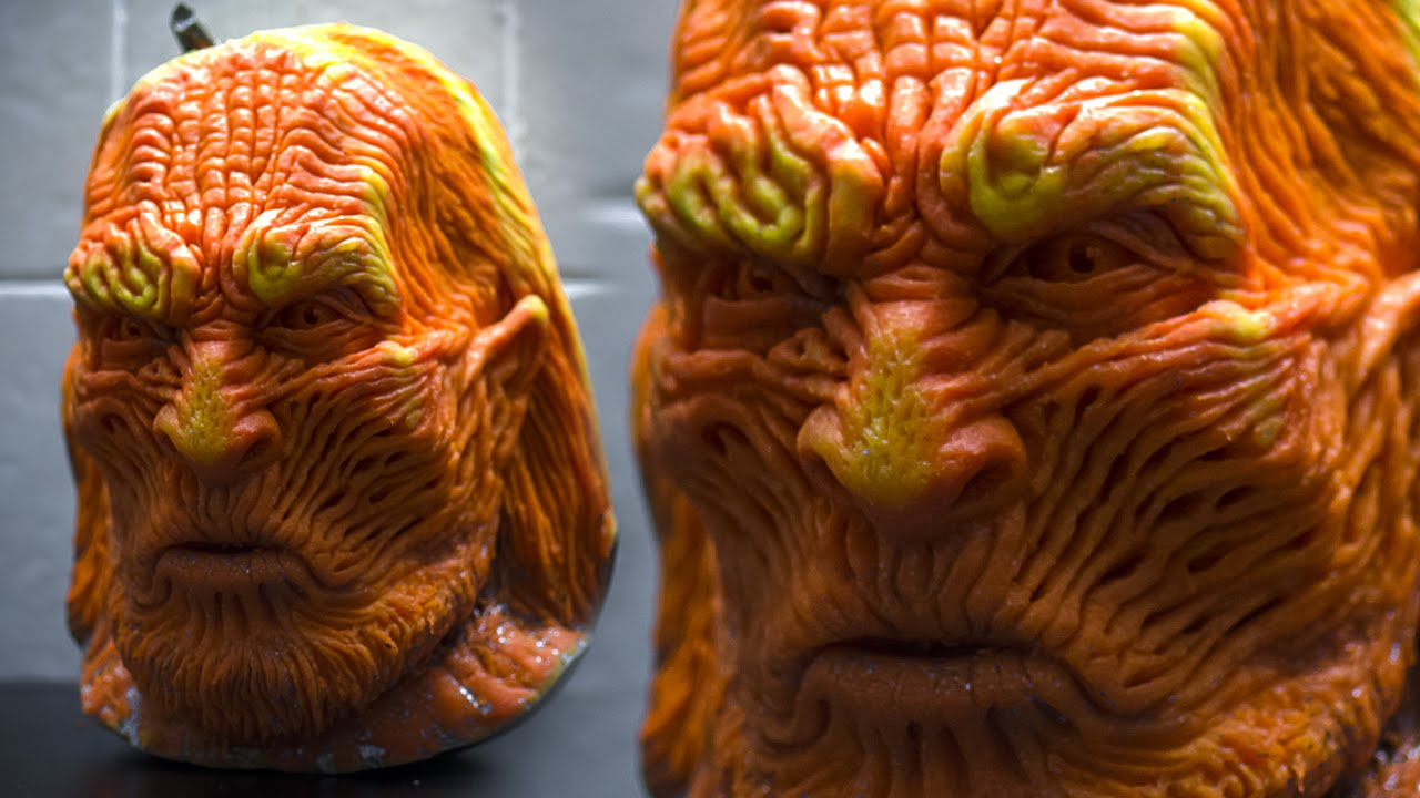 Game of thrones white walker pumpkin carving youtube