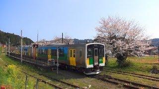 桜と久留里線(千葉県君津市)