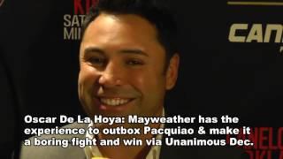 Oscar De La Hoya on Pacquiao vs Mayweather