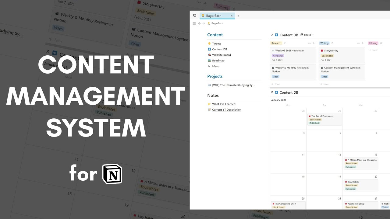 Creating Content with a Content Management System in Notion