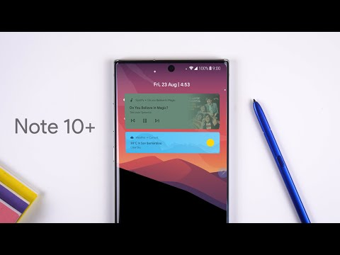 Customizing the Galaxy Note 10+