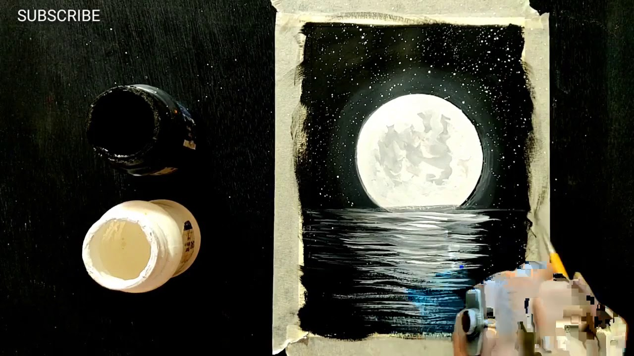 Easy Art Ideas Painting Ideas For Beginners Black And White Painting Tutorial Youtube