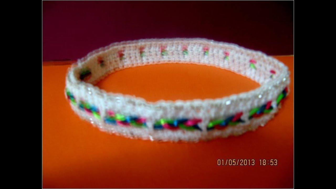 Tejido a crochet y ganchillo diadema trenzada youtube for Diademas para bebes de ganchillo
