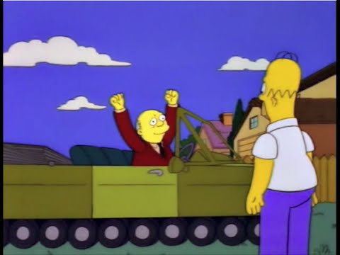 The Simpsons - Hooray Whacking Day Parking