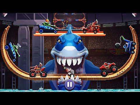 Drive Ahead! Battle Shark Hot Wheels - DRIVE AHEAD NEW Track Gameplay Video For KIDS