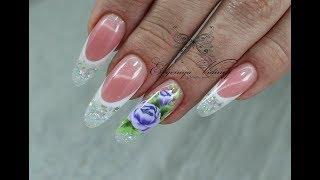 Весенние ногти нежный дизайн ногтей китайская роспись