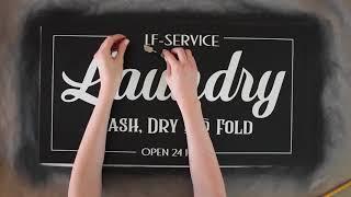 DIY Farmhouse Laundry Sign