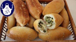 Russische Piroschki / Pirogge mit Ei, Lauch und Reis /  Gefüllte Teigtaschen - Absolut lecker!