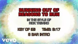 Rick Trevino - Running Out Of Reasons To Run (Karaoke)