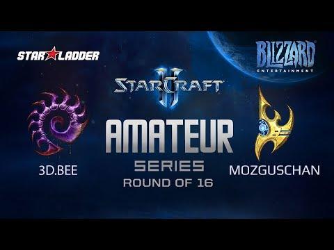 Amateur Series Round Of 16: 3D.Bee (Z) Vs MozgusChan (P)