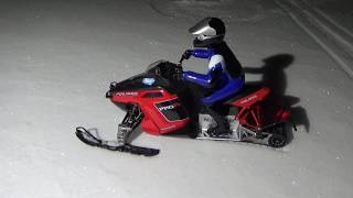 Polaris Rush Rc Snowmobile Brushless On Hard Snowjumping