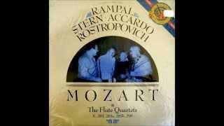Mozart: Complete Flute Quartets (1986: Rampal/Stern/Accardo/Rostropovich)