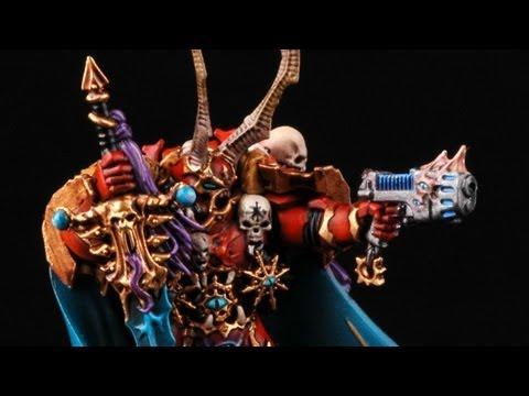 How To Paint Chaos Space Marines Lord Krannon? Dark Vengeance Warhammer 40k Crimson Slaughter