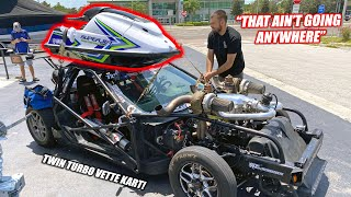 Finally Getting Leroy the Roof He Deserves!!! Jet Ski Shopping w/1,500hp Corvette Kart!