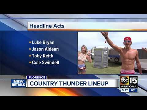 2018 Arizona Country Thunder lineup: Luke Bryan, Jason Aldean, Toby Keith to headline