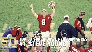 #1: Steve Young Gives 49ers their 5th Title I Top 50 Super Bowl Performances