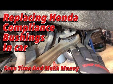 How To Replace Lower Control Arm Bushings In Car!
