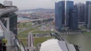2013 Singapore Container Terminal Port from Marina Bay Sands Skypark Skyline Singapore HD