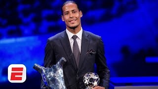vuclip Liverpool's Virgil Van Dijk wins Player of the Year award | UEFA Champions League