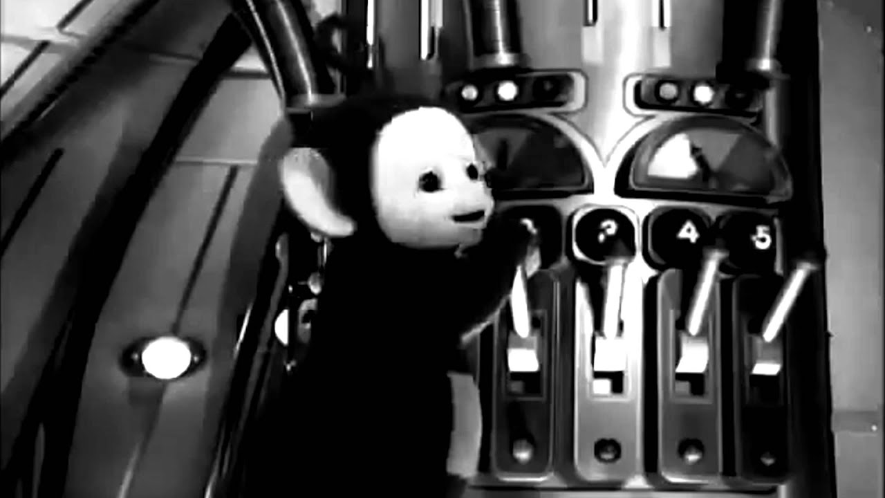 Teletubbies Horror Trailer YouTube - Teletubbies in black and white is terrifying