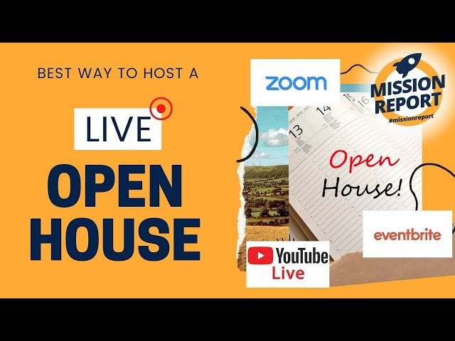 #missionreport - The best way to do a live open house