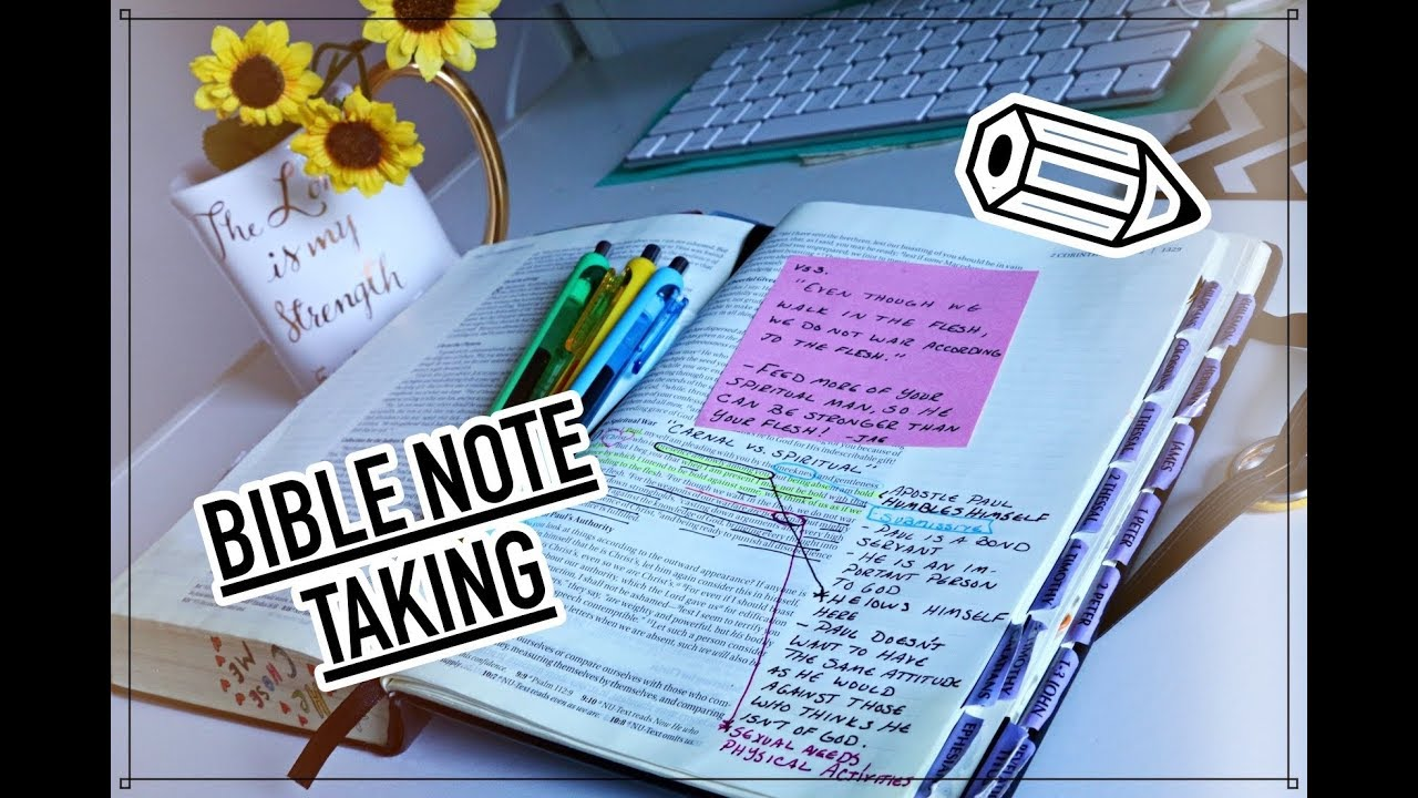 MY Bible Note Taking + Tips on STUDYING the Word