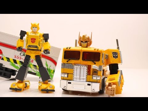 Transformers Movie Stop motion! Mainan Bumblebee, Dropkick & Shatter, Optimus Prime Truck Car Robot