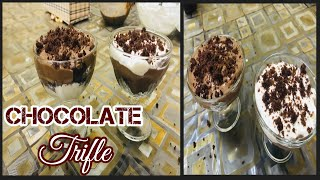 Chocolate custard trifle Recipe || chocolate custard Recipe|| Easy Dessert