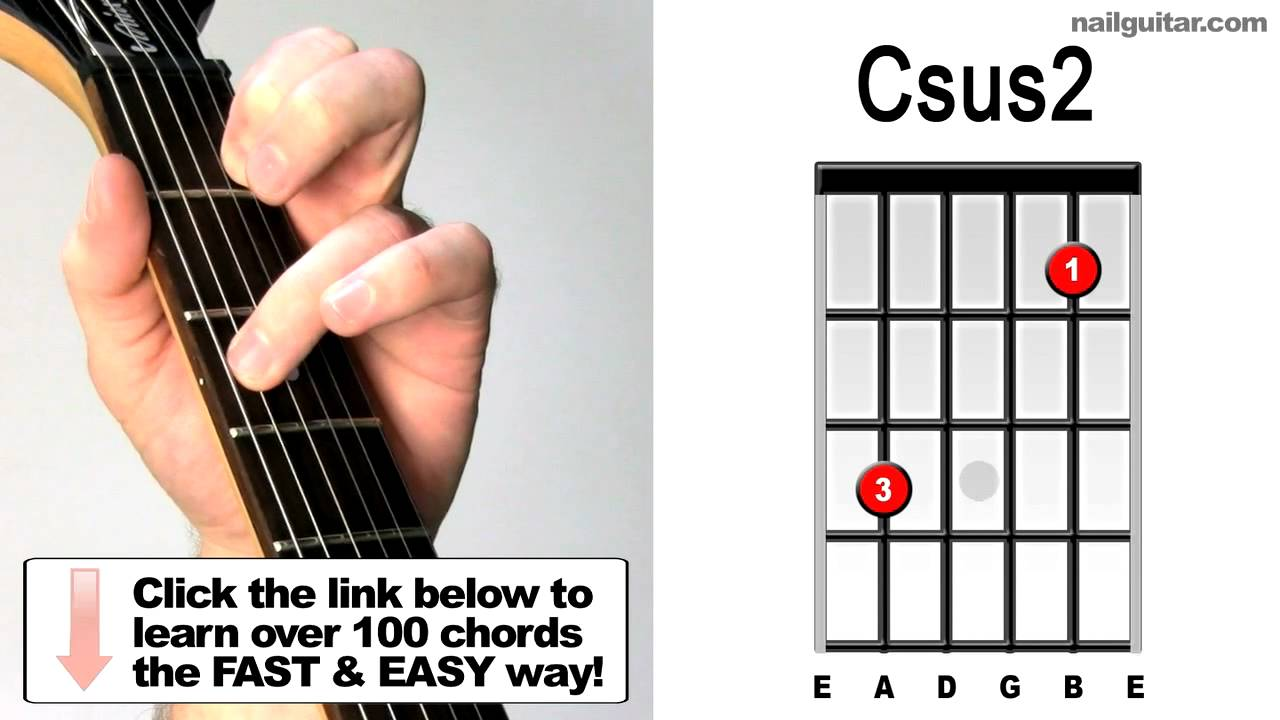 How to play csus2 suspended guitar chords lesson youtube how to play csus2 suspended guitar chords lesson hexwebz Image collections