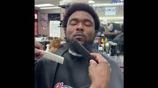 Crazy beard hair straigнtening tool!
