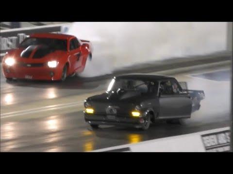 Daddy Dave golitah vs Fireball Camaro at Bristol 100k no prep race