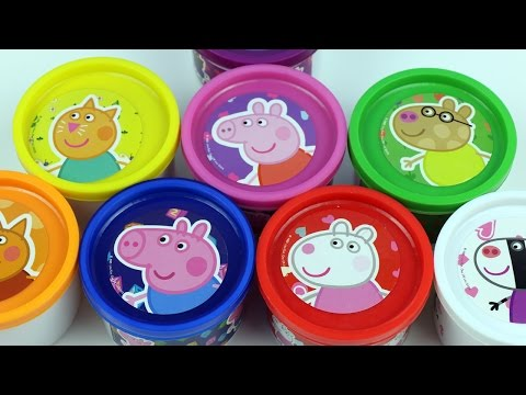 Peppa Pig Play Doh cans Surprise Eggs Doug Peppa Toys