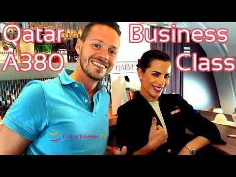 Qatar Business Class A380 Erfahrung Bericht Review Deutsch    GlobalTraveler.TV