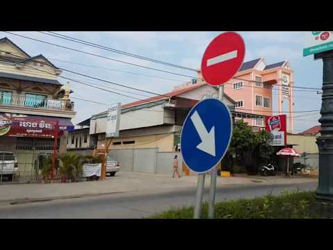 Amazing view on the street from Phnom Penh to Uddar Meanchey Province, Cambodia, Compilation,