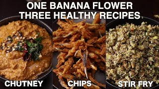 banana flower recipes | banana blossom recipes | how to clean banana flower