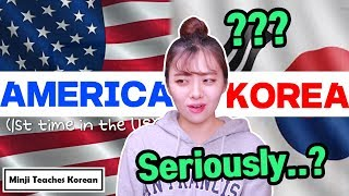 Korea vs. America, 6 Culture Differences! (First time in the U.S...)