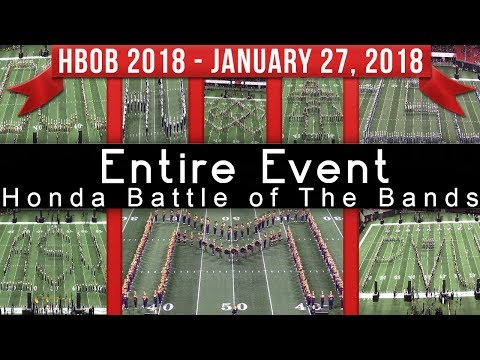 Full Battle - 2018 Honda Battle of The Bands HBOB BOTB
