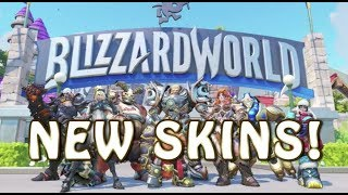 "ALL NEW ""BLIZZARD WORLD"" OVERWATCH SKINS & WEAPONS!"