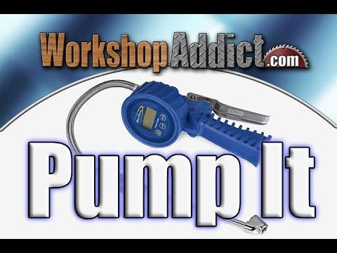 Digital Air Pressure Gauge >> Snap-on Blue-Point Digital Tire Gauge and Inflator Backlit - TPGDL1000B - YouTube