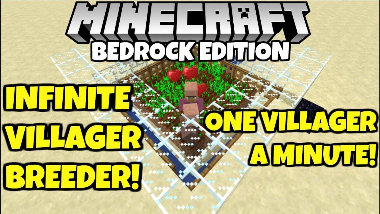 Minecraft Simple Infinite VILLAGER BREEDER! Bedrock Edition! Tutorial PE PC  Xbox