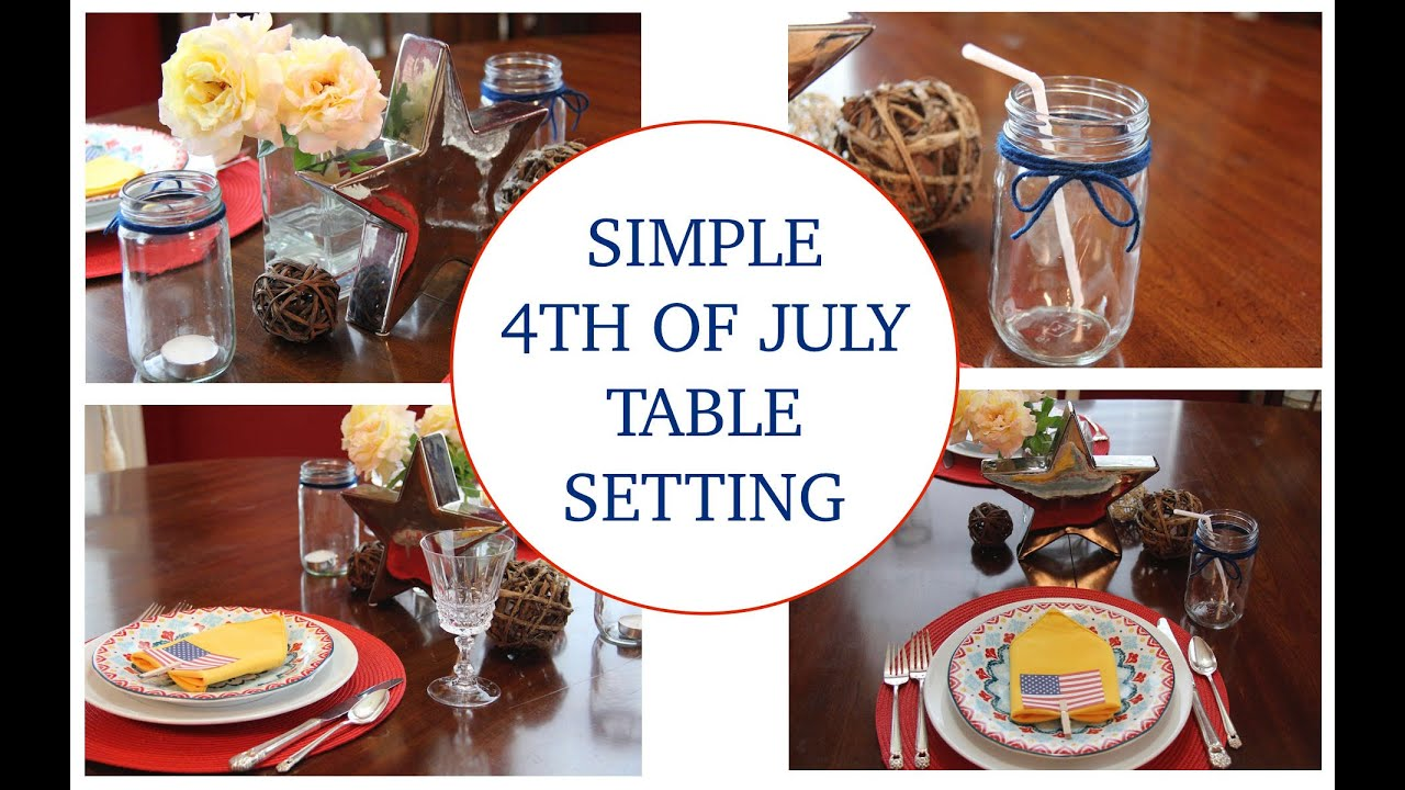 DIY 4th of July Decor Table Settings - YouTube