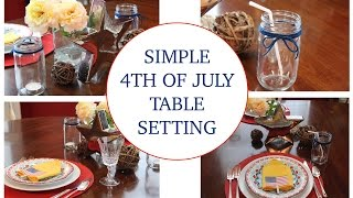 DIY 4th of July Decor Table Settings
