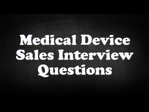 medical device sales interview questions youtube