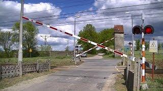 Spoorwegovergang Gądków Mały (PL) // Railroad crossing // Przejazd kolejowy