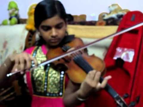 Manguyile poonguyile of Ilaiyaraaja sir  violin cover by Abha (disciple of P Chidambaranath)  -