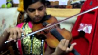 Manguyile poonguyile of Ilaiyaraaja sir on violin by Abha (disciple of P Chidambaranath)  -