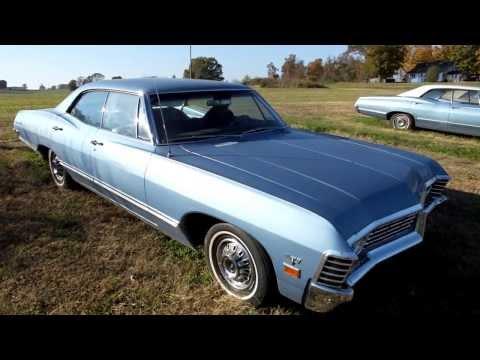 1967 Chevy Impala 4 dr Hardtop A/C 41K  Miles for sale Chevrolet