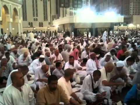 Breaking fast in Mecca